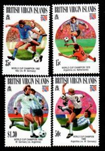 British Virgin Islands 802-805 Mint NH World Cup!
