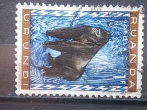 RUANDA URUNDI, 1959, used 1fr, Gorilla Scott 141