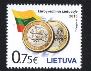Lithuania Sc 1038 Introduction of Euro stamp mint NH