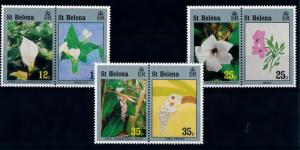 [67061] St. Helena 1994 Flora Flowers Blumen Children Drawings  MNH