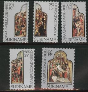 Suriname Scott B236-240 MNH** 1977  semi-postal set