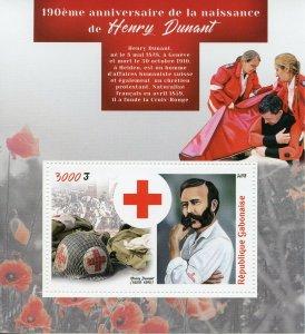 Gabon 2018 MNH Henry Dunant Red Cross 1v S/S Health Medical Stamps