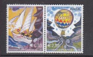J26222  jlstamps 2004 greece set pairs mnh #2110 europa