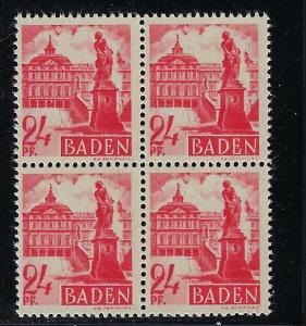 Germany - under French occupation Scott # 5N8, mint nh, b/4