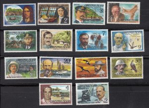 J28372, 1977-8 christmas island part of set with hv of set mnh #69//84 people