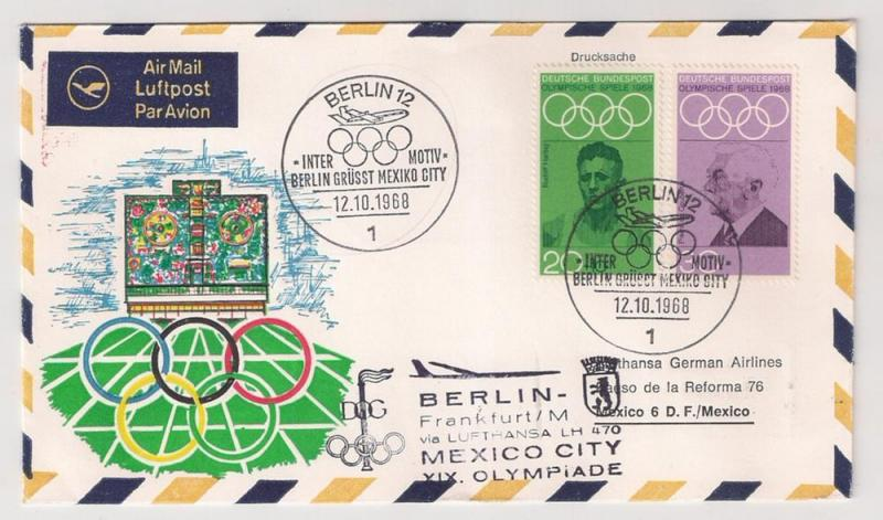 Germany B435 &986 on '68 Special Olympic Flight cvr 2 Mexico