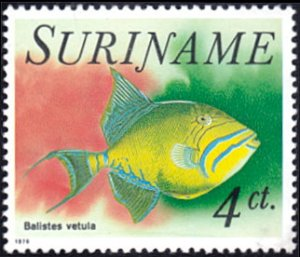 Surinam # 450 mnh ~ 4¢ Fish - Balistes vetula