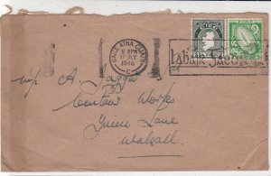 Ireland Eire 1946 From TP Nolan Motor Accessories Slogan Stamps Cover Ref 34945