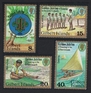 Gilbert Is. 50th Anniversary of Scouting in the Gilbert Is 4v SG#60-63