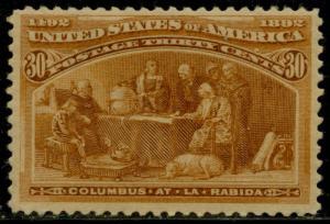#239 VF+ OG NH 30¢ COLUMBIAN CV $750.00 HV5149