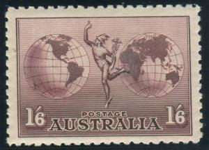 AUSTRALIA-1934-48 1/6 Dull Purple.  A mounted mint example Sg 153