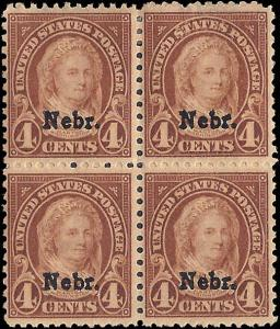 673 Mint,OG,HR... Block of 4... SCV $70.00