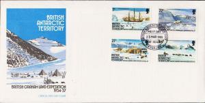 British Antarctic Territory Scott 121-124 Unaddressed.