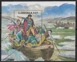1981 Liberia #911 Washington Crossing the Delaware MNH S/S