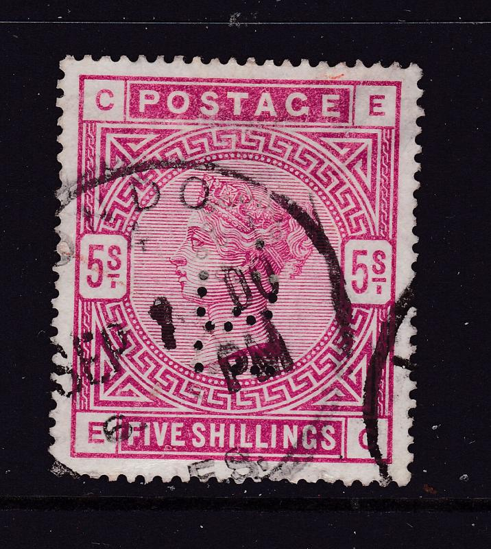 Great Britain a QV used 5/-