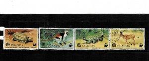 Uganda 1977 WWF  Fauna MNH