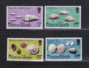 Pitcairn Islands 137-140 Set MNH Sea Shells