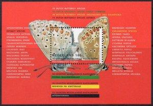 Netherlands MNH S/S 833 Endangered Butterflies 1993