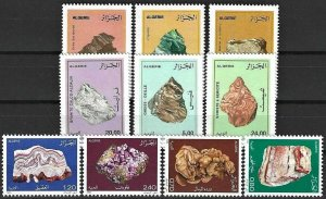 1983+ Algeria Beautiful Minerals, 3 complete sets VF/MNH! LOOK!