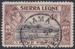 SIERRA LEONE GVI 4d - 1953 TIAMA cds.......................................87586