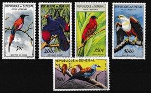 Senegal 1960 Native African BIRDS Scott C26-C30 Complete (5) VF/Mint-Hinged (*)