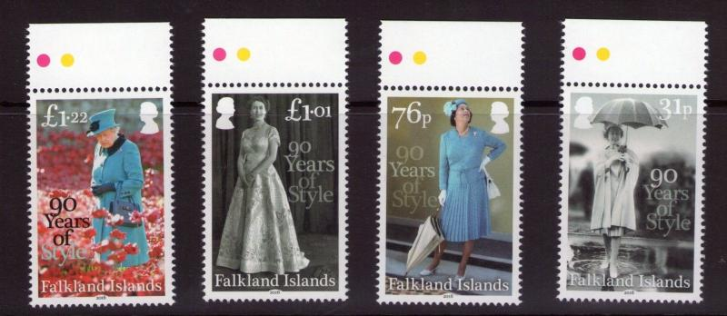 Falkland islands 90 years of Style 21/04/16 set MNH condition.