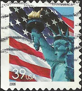 # 3985 USED FLAG AND STATUE OF LIBERTY
