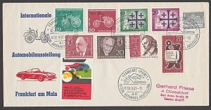 GERMANY 1961 cover - great franking + cinderella............................B321