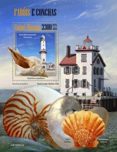 GUINEA BISSAU - 2019 - Lighthouses and shells - Perf Souv Sheet - MNH