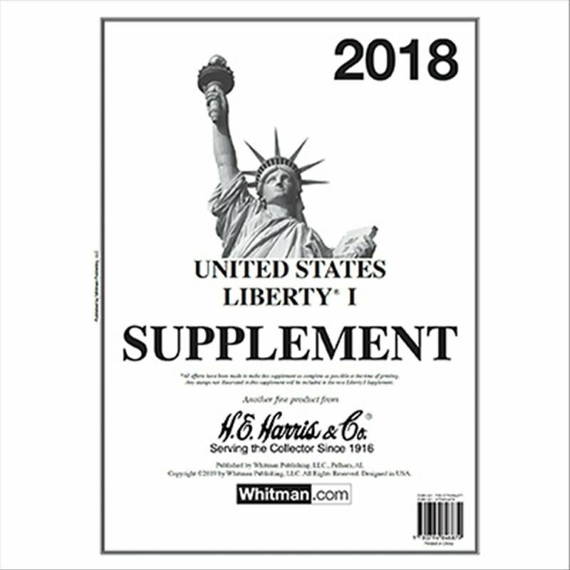 H E Harris Liberty 1 2018 Stamp Album Supplement ( HE HARRIS LIBERTY I 2018 )