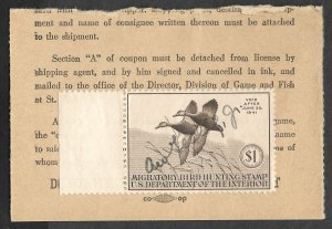 Doyle's_Stamps: Very Nice Used #RW7 Federal Duck Stamp of 1940