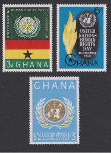Ghana Human Rights Day 3v SG#256-258