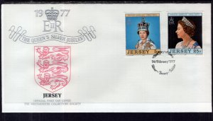 Jersey 168,170 Queen Elizabeth II Silver Jubilee U/A FDC
