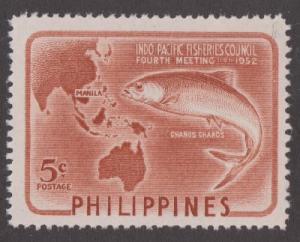 Philippines 578 MNH Milkfish and Map single