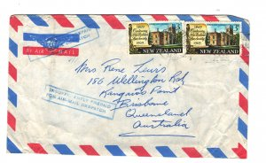 New Zealand Sc#422 - 2 on cover - Insufficiently Prepaid for Air-mail stamp
