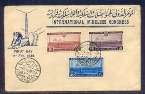 EGYPT- 1938 International Telecommunications Conference, Cairo FDC SIMON ARZT