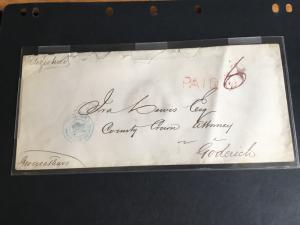 Canada 1868 Registered SC - MSS Registered RED SL PAID MSS 6 OVER RED 6
