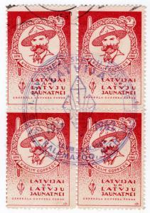 (I.B) Latvia Cinderella : General Goppers Fund (Kalmazoo cancel 1962)