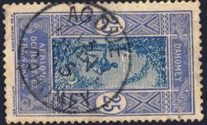 DAHOMEY - 1915 -  CAD DOUBLE CERCLE AGOUÉ / DAHOMEY SUR N°50