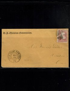 Scott #65 Fine used on cover.