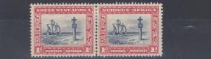 SOUTH WEST AFRICA  1931  S G 75  1D  INDIGO & SCARLET   MH