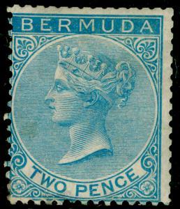 BERMUDA SG4, 2d Bright Blue WMK CC, M MINT. Cat £475.