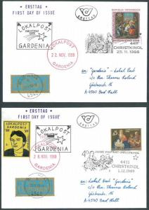 Austria – Local Post First Day Chirstmas Covers of Gardenia
