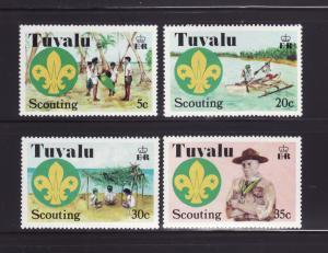 Tuvalu 50-53 Set MNH Scouts (B)