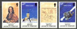 British Antarctic Territory Sc# 129-132 MNH 1985 Halley's Comet