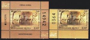 Montenegro. 2020. 448, bl 26. Mail, horses, europa-sept. MNH.