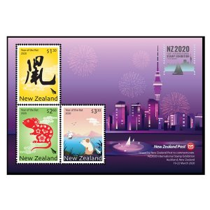 Stamps of New Zealand 2020. - International Stamp Exhibition Miniature Sheet.