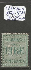 Italy 1884 Postage Due 50L SC J21 MOG (6cou)