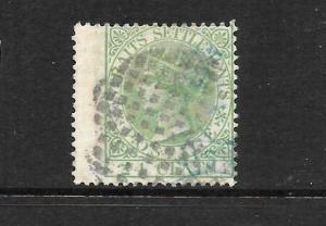 STRAITS SETTLEMENTS  1867-72  24c   QV   FU  SIGNED  SG 16a