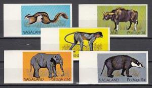 Nagaland, 1978 India Local. Wild Animals, IMPERF issue. Elephant. ^